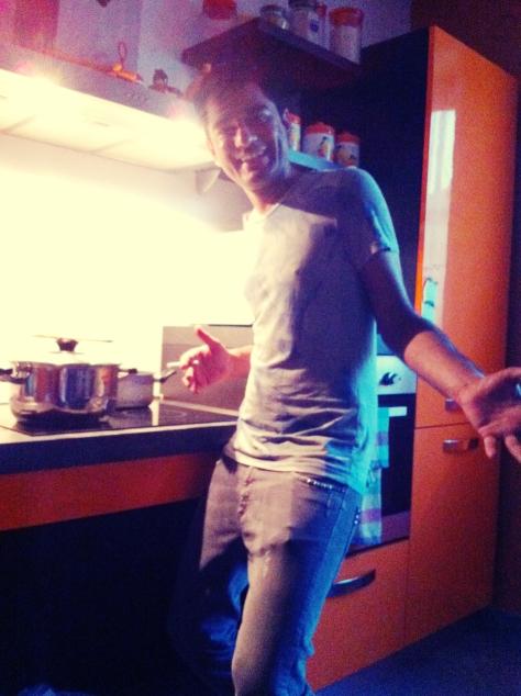 Israr in the kitchen
